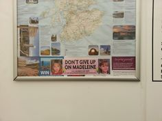 Display a sticker/poster wherever possible to help find Madeleine
