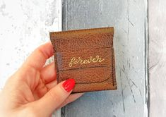 Dark brown ring bearer wedding rings pouch, best man purse, genuine leather engagement ring purse for wedding bands, proposal, tooth fairy Brown Rings, Leather Ring, Leather Gifts, Wedding Ring Box, Wedding Bands, Square Engagement Rings, Ring Bearer Gifts, Beige Wedding, Sachets
