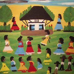 African House, Melrose Plantation, Natchitoches, Louisiana, United States, date unknown, by Clementine Hunter.
