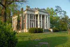 Ward Hall - Greek Revival plantation mansion located in Georgetown, Kentucky. The 12,000-square-foot, with 27-foot high Corinthian fluted columns, and one of the finest examples of a mid 19th century classical building in the US. The mansion was built by Junius Richard Ward (1802–1883) & his wife Matilda Viley Ward circa 1857. The mansion was built as a summer residence; their plantation house located near Leota Landing, Washington County, Mississippi served as their winter residence