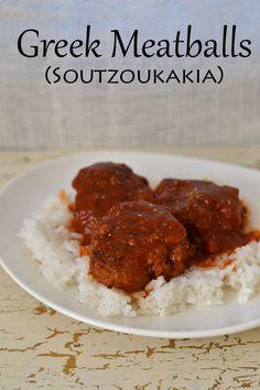 Greek Meatballs (Soutzoukakia) - I am on a Greek fix right now!!