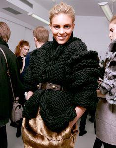 black chunky, chunky knit cardigan