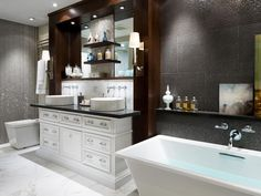 20 Luxurious Bathroom Makeovers From Our Stars | Bathroom Ideas & Design with Vanities, Tile, Cabinets, Sinks | HGTV