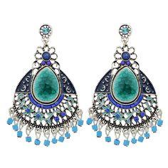 Earring Type: Drop Earrings. Shape\pattern: Water Drop. Metals Type: Zinc Alloy. Model Number: ER-6987. Style: Ethnic. | eBay!
