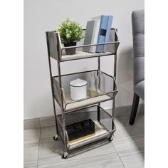 DesignStyles Rustic Wood and Metal Storage/Serving Cart - Overstock - 30659249 Storage Caddy, Wire Storage, Storage Baskets, Furniture Deals, Kitchen Furniture, Wood And Metal, Solid Wood, Metal Solid, Hall Tree With Storage