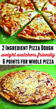 Find out how to make this Weight Watchers friendly 2 Ingredient Pizza Dough. You… Find out how to make this Weight Watchers friendly 2 Ingredient Pizza Dough. You can have an entire pizza (with. Pizza Weight Watchers, Weight Watchers Lunches, Plats Weight Watchers, Weigh Watchers, Weight Watcher Dinners, Weight Watchers Smart Points, Weight Watchers Pizza Dough Recipe, Weight Watchers Cheesecake, Weight Watchers Chili