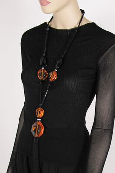 angela caputi jewelry   Angela Caputi Long Tassel Citrine Necklace - Off Broadway Boutique is ...