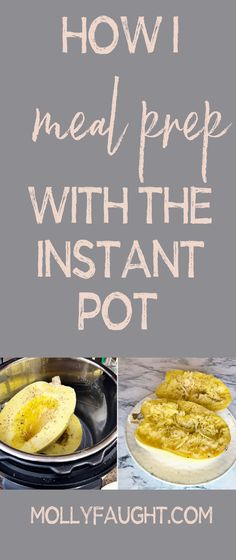 The Instant Pot is awesome for saving you time to meal prep your food with ease. Learn how I prep for the entire week with my Instant Pot in this blog post #InstantPot #MealPrep #mealprepwiththeinstantpot Best Meal Prep, Meal Prep For The Week, Portion Control Diet, Clean Eating Recipes, Healthy Recipes, Meal Prep For Beginners, Paleo Diet, Instant Pot, Meal Planning