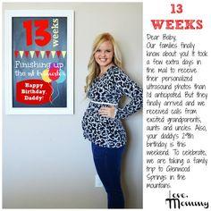 13 weeks - Pregnancy chalkboard bump progress - 13 weeks pregnant #pregnancy  #baby #