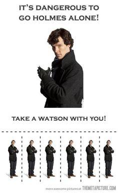 Holmes alone…