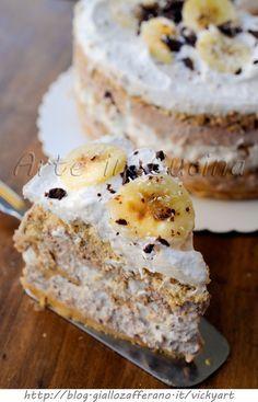 Torta di biscotti alla banana cocco e cioccolato vickyart arte in cucina