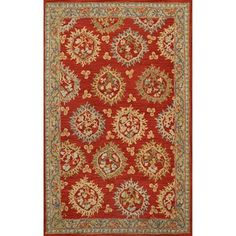 @Overstock.com - The exquisite pattern of flowers in blue and green on this traditional handmade red wool rug will give an elegant feel to any room in your home. Natural wool provides warmth to the thick pile, while a fringeless border creates a clean and sharp look.http://www.overstock.com/Home-Garden/Handmade-Medallion-Red-Wool-Rug-5x8/7286347/product.html?CID=214117 $149.99
