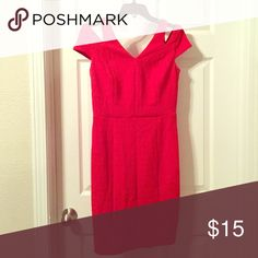 Red dress Fitted red dress with drop sleeve The Limited Dresses Mini