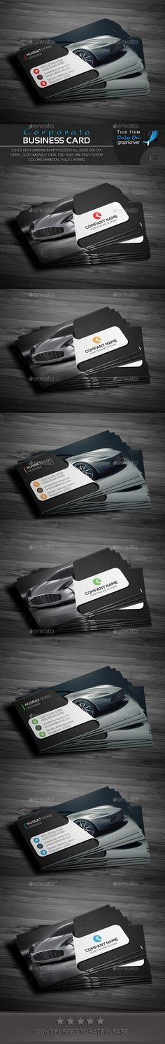 Corporate Business Card Template PSD. Download here: http://graphicriver.net/item/corporate-business-card/15216807?ref=ksioks