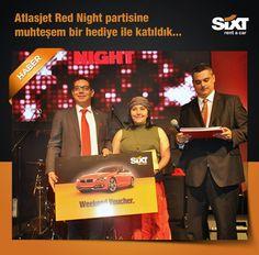 Sixt rent a car muhteşem bir hediye ile Atlasjet Red Night Parti'ye katıldı!Sixt rent a car, Atlasjet'in program ve iş ortaklarının katılımı ile gerçekleşen gecede yapılan çekiliş ile haftasonu BMW marka araç kiralama vocuherı hediye etti... www.sixt.com.tr #sixt #sixtrentacar #sixtturkiye #rentacar #kiralıkaraç