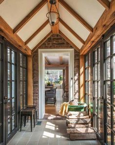 Farmhouse hallway ideas will give a standout point on our farmhouse interior. Wonderful Farmhouse Hallway Design Ideas to Revitalize Your Home Stunning Interior Design, Hallway Designs, Pole Barn Homes, Mudroom Design, Farmhouse Design, Farmhouse Interior, House, Brick Paneling, Breezeway