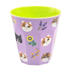 Kitty Curved Cup.  Melamine by Ginger