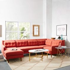 Crosby 2-Piece Chaise Sectional | Couch | Pinterest | Living rooms Room and Farmhouse living rooms : crosby 2 piece chaise sectional - Sectionals, Sofas & Couches