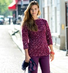 Un modèle de pull pour les débutantes avec un fil Phildar - La Malle aux Mille Mailles Drops Design, Filet Crochet, Pulls, Couture, Knitting, Blouse, Tops, Diy, Gilets