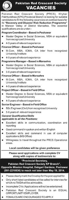 Jobs in Pakistan Red Crescent Society (PRCS) #Peshawar For #jobs detail and how to apply: #paperpk http://www.dailypaperpk.com/jobs/210822/jobs-pakistan-red-crescent-society-prcs-peshawar
