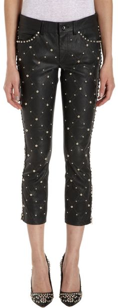 in my dreams Leather Pants, Black Leather, Stud Muffin, Punk Fashion, Spikes, Back To Black, Get Dressed, Isabel Marant, Casual Chic