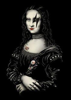Hard Rock Mona Lisa.  #Music #Rock #Metal #Monalisa #DigitalArt