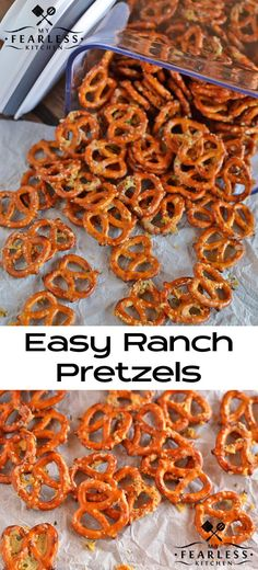 Easy Ranch Pretzels from My Fearless Kitchen. Do you need a quick snack to satisfy kids AND adults? These Easy Ranch Pretzels are super-fast and super-tasty. You won't have any leftovers!