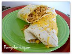 Ground Chicken & Bean Burritos #MommyHatesCooking