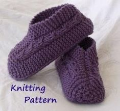 Free Knitting Patterns for Beginners | knitted slipper pattern by isabelle jacouton