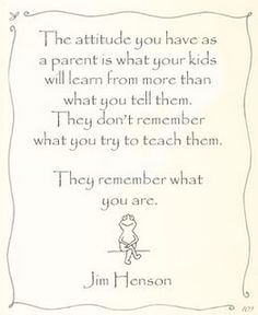 Jim Henson on parenting.
