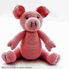 Peggy Pig crochet pattern, PDF tutorial