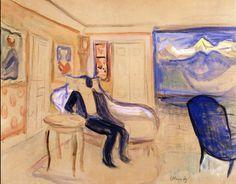 Set Design for Henrik Ibsen-s Ghosts.1906 by Edvard Munch