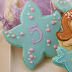 Monogrammed Starfish Cookie Favors 1 Dozen Decorated by TSCookies