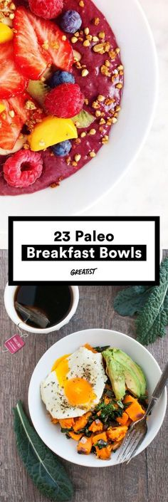 Our (grain free) bowls runneth over. 23 paleo breakfast bowls Source by gfshoestring Healthy Breakfast Recipes, Paleo Recipes, Real Food Recipes, Healthy Eating, Cooking Recipes, Paleo Food, Paleo Diet Breakfast, Clean Eating, Veggie Recipes