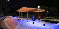 Malecon del Rodadero - Santamarta - simulación de noche con calla y RGB azúl