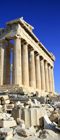 The Parthenon in Athens is the most famous surviving building of Ancient Greece and one of the most famous buildings in the world.The Parthenon has stood atop the Acropolis of Athens for nearly Places Around The World, Oh The Places You'll Go, Places To Travel, Places To Visit, Around The Worlds, Travel Things, Travel Stuff, Mykonos, Santorini