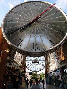 Giant clock Cergy, Saint-Christophe train station, France..... by okhtay, via Flickr