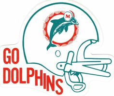 Go Miami Dolphins! Sports Mix, Nfl Sports, Football Art, Vintage Football, Tracing Pictures, Nfl Dolphins, Football Conference, Nfl Logo, National Football League
