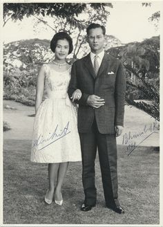 Their Majesties the King and Queen of Thailand.
