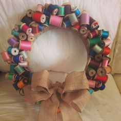 Wooden Spool Wreath -- Mother's Day 2013