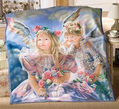 Angels Fleece Throw Blanket