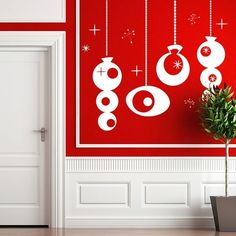 xmas ornaments, fun alternative to decorating for the holidays.