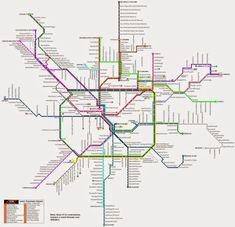 Plano de tranvía de Milán