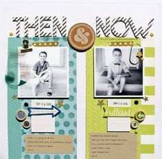 paper: pretty paper. true stories. {and scrapbooking classes with cupcakes.}: Scrapbooking Back to School with comparison photos