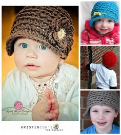 Crochet Pattern - Backtrack Beanie (Reversible!) $4.20 for patterns for sizes 6m - adult ... product (not pattern) can be sold :)