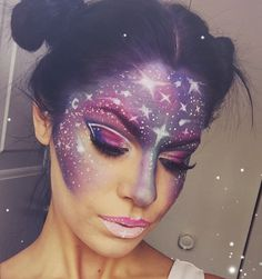Halloween – Make-up Schminke und Co. Halloween – Make-up Schminke und Co. Makeup Trends, Makeup Ideas, Makeup Tutorials, Alien Make-up, Instagram Mode, Instagram Makeup, Galaxy Makeup, Princess Makeup, Unicorn Makeup