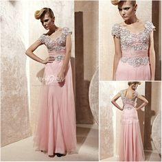 Pink maxi dress for bridesmaids