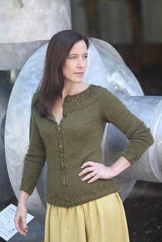 Ravelry: Gwenevere pattern by Jennifer Wood Jennifer Wood, Leaf Border, Stockinette, Shades Of Green, Ravelry, Bodice, Tunic Tops, One Piece, Silk