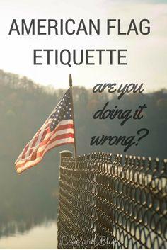 american flag etiquette hanging