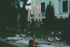 pure simplicity with a certain charm Romantic Dinners, Candles, Pure Products, Garden, Home, Garten, Lawn And Garden, Ad Home, Candy